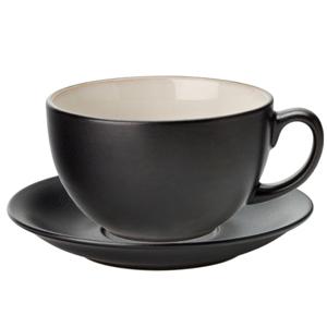 Utopia Barista Cappuccino Cup & Saucer Almond 14oz / 400ml
