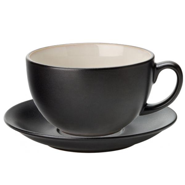 Utopia Barista Cuccino Cup Saucer Almond 14oz 400ml