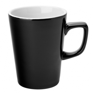 Utopia Titan Latte Mug Black 12oz / 340ml