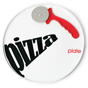Party Pizza Plate & Cutter 30cm