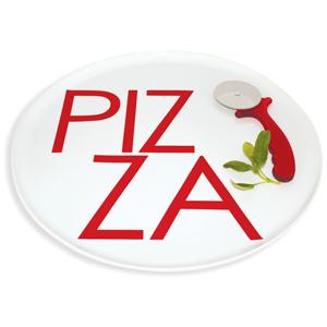 Taste Pizza Plate & Cutter 38cm