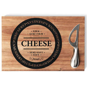 Fromage Cheese Board & Knife Set 30 x 20cm