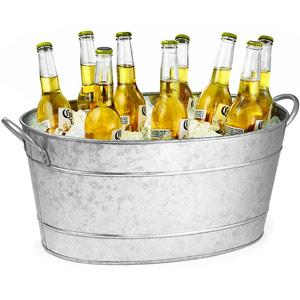 Image of Galvanised Steel Oval Beverage Tub