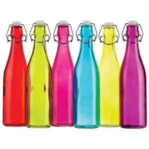 Colourworks Coloured Glass Storage / Water Bottles 500ml