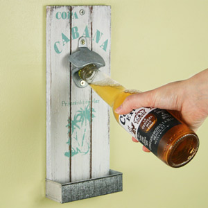 Mexican Style Wall Mounted Bottle Opener 30cm Copa Cabana