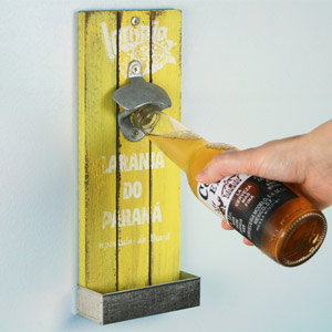 Mexican Style Wall Mounted Bottle Opener 30cm Laranja Do Parana