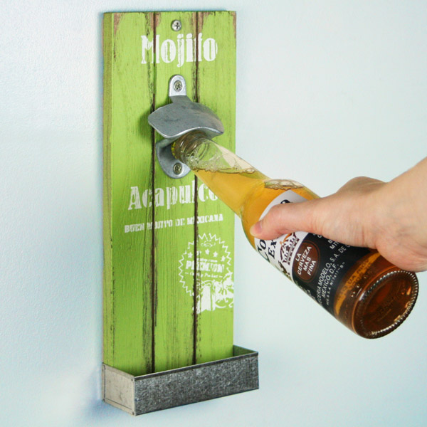 Mexican Style Wall Mounted Bottle Opener 30cm Mojito