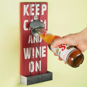 Mexican Style Wall Mounted Bottle Opener 30cm Keep Calm