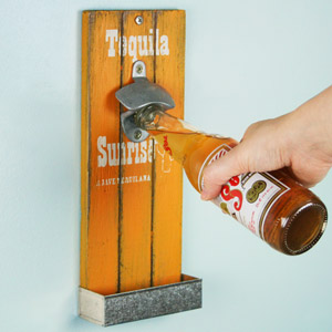 Mexican Style Wall Mounted Bottle Opener 30cm Tequila Sunrise