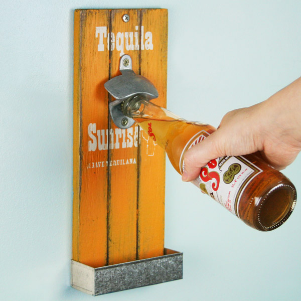 mexican style wall mounted bottle opener 30cm tequila sunrise drinkstuff. Black Bedroom Furniture Sets. Home Design Ideas