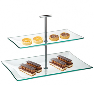 Utopia Aura Glass Plate 2 Tier