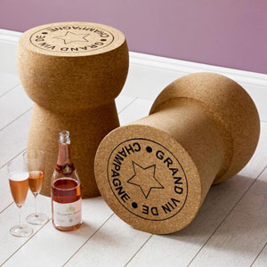 Giant Champagne Cork Side Table
