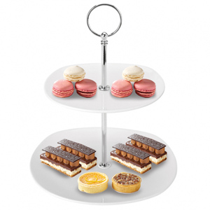 Utopia Square 2 Tier Plates 19.5cm