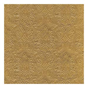 Moments Ornament Embossed Lunch Napkins Gold 33cm 3ply
