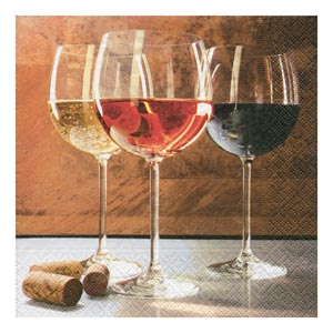 World of Wine Lunch Napkins 33cm 3ply