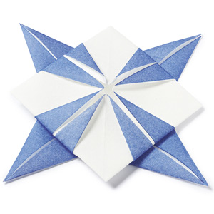 Sternenblute Origami Dinner Napkins Blue & White 40cm