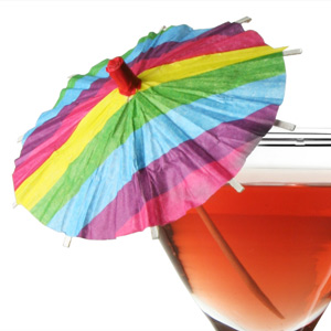 Rainbow Deco Cocktail Umbrellas
