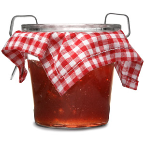 Rustic Single Serving Strawberry Jam Pot
