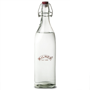 Kilner Square Clip Top Bottle 1ltr