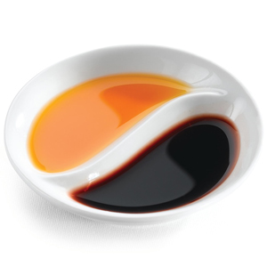 AFC Divided Chilli Sauce Dish 9cm