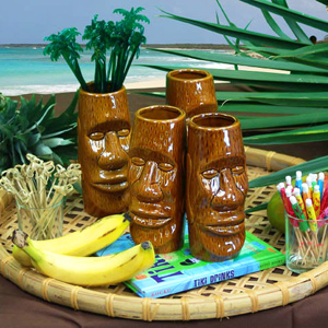Brown Easter Islander Tiki Mug 14oz / 415ml