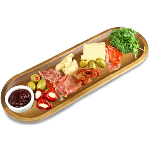 Utopia Acacia Wood Serving Board 17 x 5.5inch / 42 x 14cm