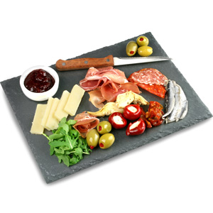 Utopia Mineral Collection Large Rectangular Slate Platter 22 x 30cm