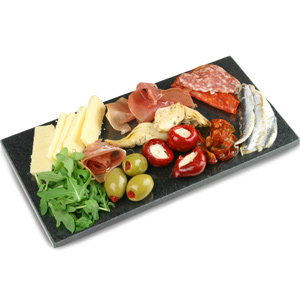 Utopia Mineral Collection Polished Granite Platter 26 x 13cm