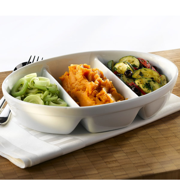 11 Elegant Kitchens Delivered Straight From Your Dreams: Royal Genware 3 Division Vegetable Dish 28cm