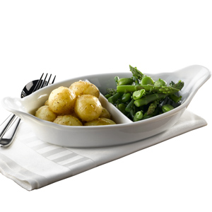 Royal Genware 2 Division Vegetable Dish 32cm