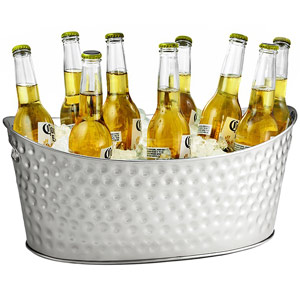 Stainless Steel Dimpled Oval Beverage Tub