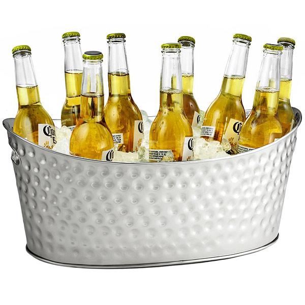 Stainless Steel Dimpled Oval Beverage Tub Party Tub