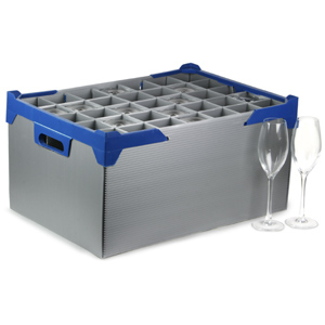 Glass Jack Champagne Flute Storage Box 35 Compartments 240mm