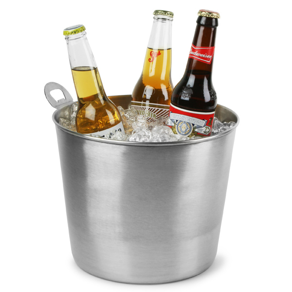Stainless Steel Beer Bucket With Integral Opener Beer