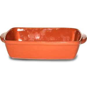 Emilio Terracotta Rock Hard Rectangular Dish 29 x 17cm
