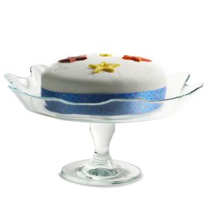 Entertain Glass Cake Plate