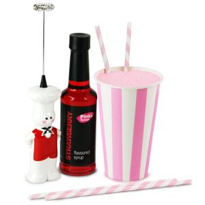 Pink Paper Cup Milkshake Kit