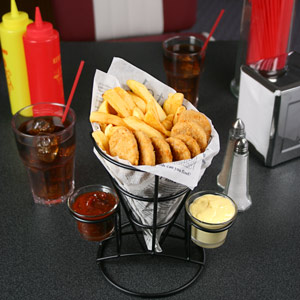 Retro French Fry Cone with Sauce Dippers