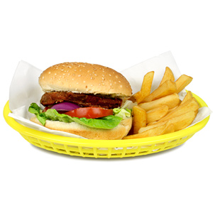 Classic Oval Food Basket Yellow 24x15x5cm