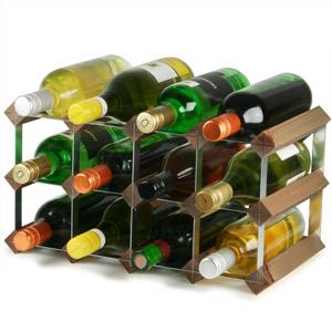 Traditional Wooden Wine Racks - Dark Oak