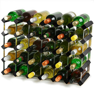 Traditional Wooden Wine Racks  Black Ash (4x6 Hole 30 Bottles)