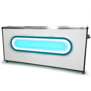 Colour Changing Home Bar White 8ft