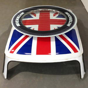 Cooper Union Jack Coffee Table White