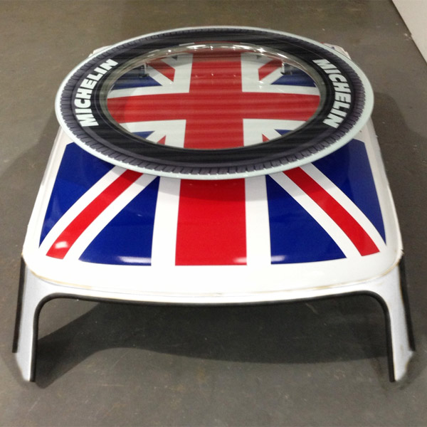 Cooper Union Jack Coffee Table White Bar Table Low Table Buy At Drinkstuff