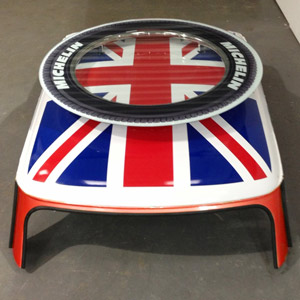 Cooper Union Jack Coffee Table Red
