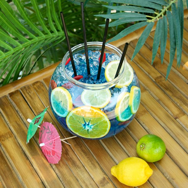 Plastic cocktail fish bowl 3ltr cocktail for Fish bowl drinks near me