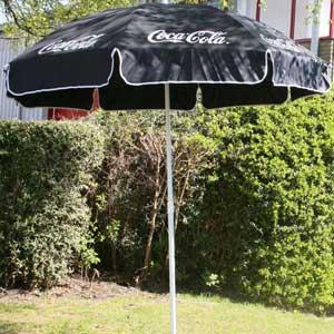 Coca Cola Garden Parasol Black