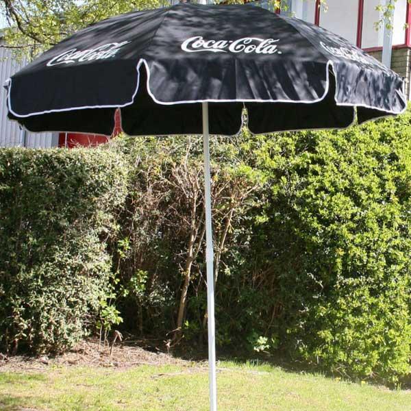 Coca Cola Garden Parasol Black Drinkstuff