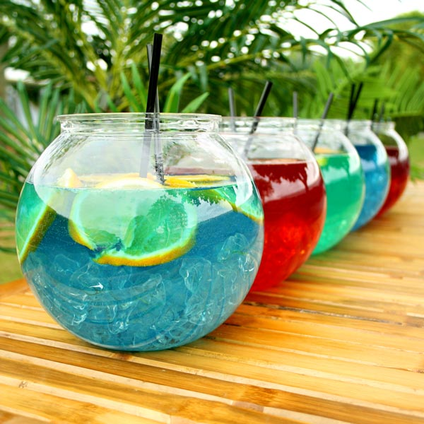 Plastic cocktail fish bowl 3ltr cocktail for Fish bowl drink recipe