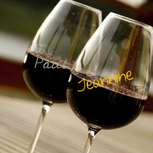 Wine Glass Writer Pens Metallic Colours